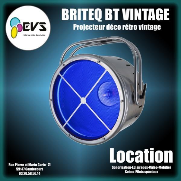 BRITEQ - BT VINTAGE - Projecteur Déco rétro LED RGB + lampe halogène