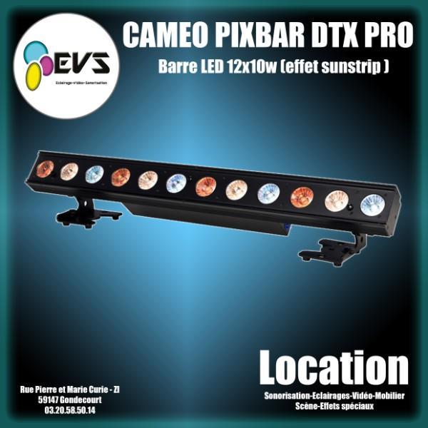 CAMEO - PIXBAR DTW PRO - Barre LED 12x10 w blanc froid, chaud et ambre